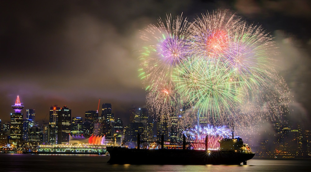 Vancouver new years eve fireworks 2017