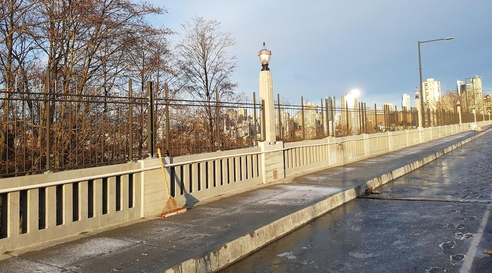 Burrard bridge suicide fence 1