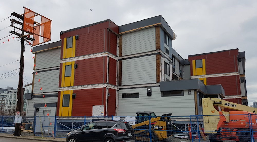 Vancouver's first temporary modular housing complex quickly taking shape (PHOTOS)