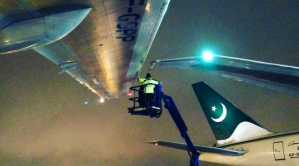 Two planes clipped wings at Toronto Pearson Airport last night