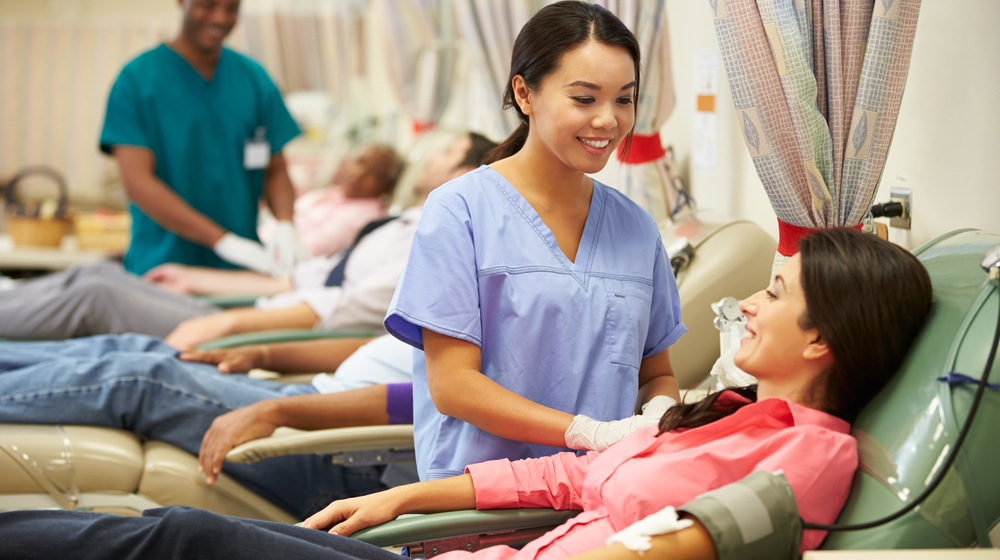 Donating blood shutterstock