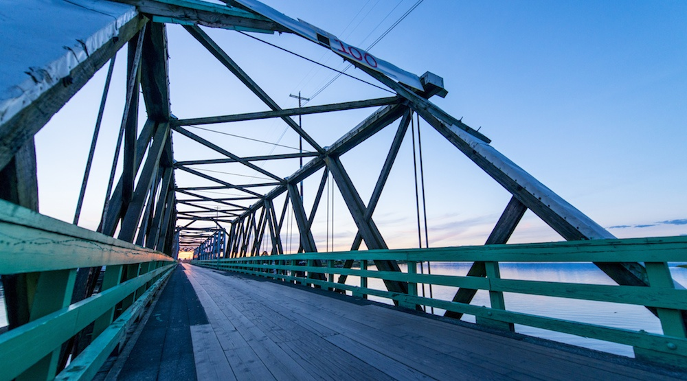 It's so cold that this Metro Vancouver swing bridge is frozen stuck