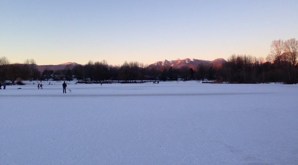 Vancouver Park Board opens Trout Lake for outdoor ice skating