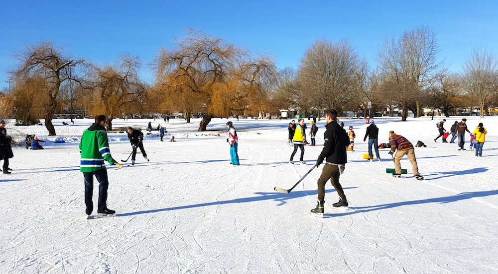 Trout lake frozen rink vancouver 15