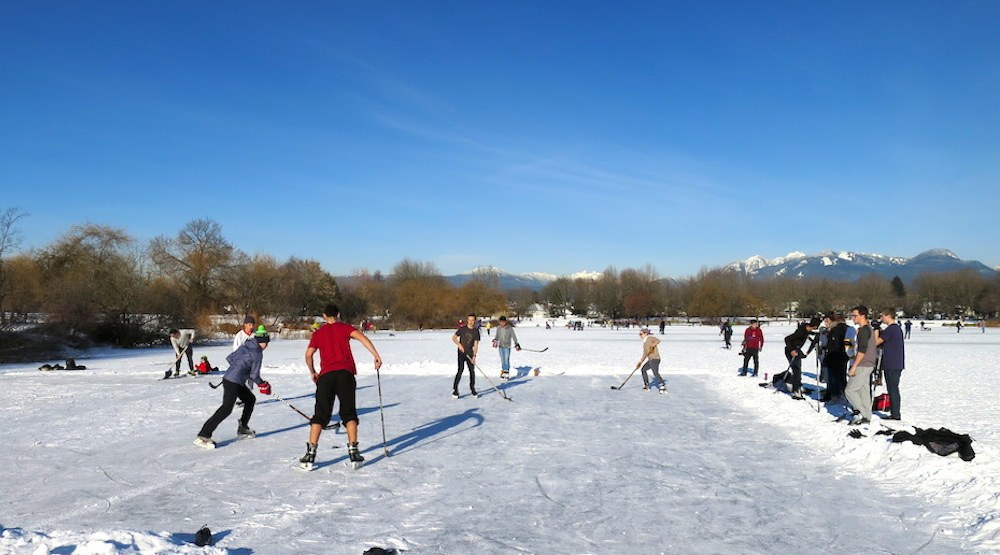 Trout lake frozen rink vancouver f