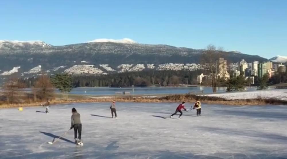 Vanier park kitsilano ice skating