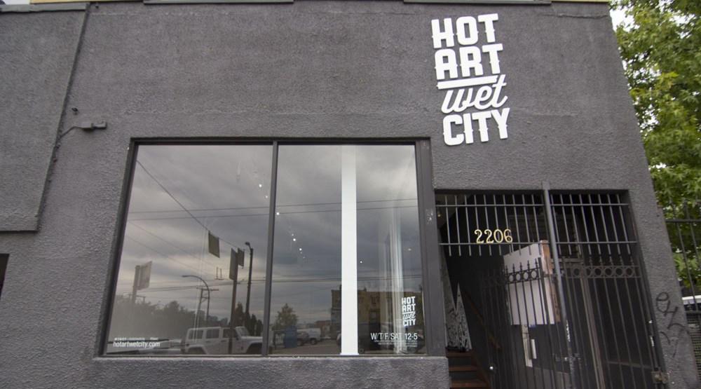 Hot art wet city cover