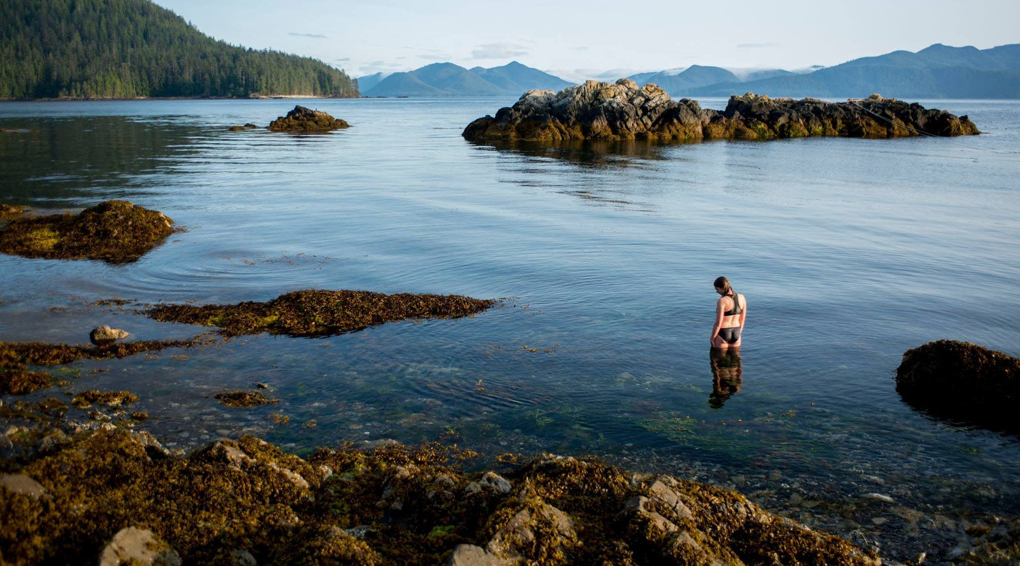 A woman in gwaii haanas national park reserve n osborne parks canada