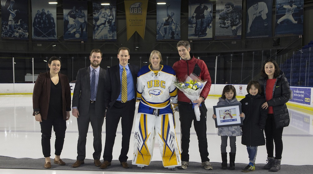 UBC women's hockey team to retire jersey of goalie lost to suicide