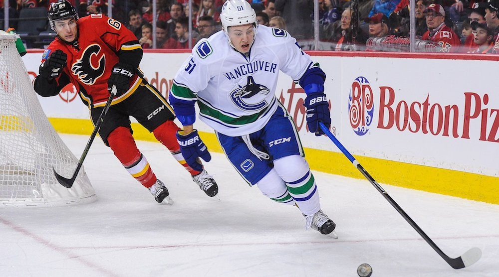 Undersized Stecher proving himself all over again for Canucks this season
