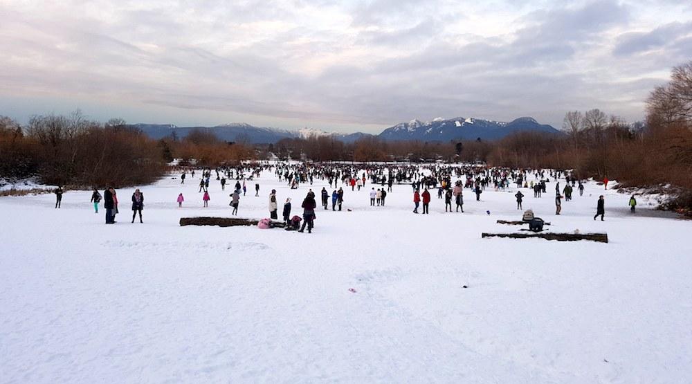 Trout lake ice skating