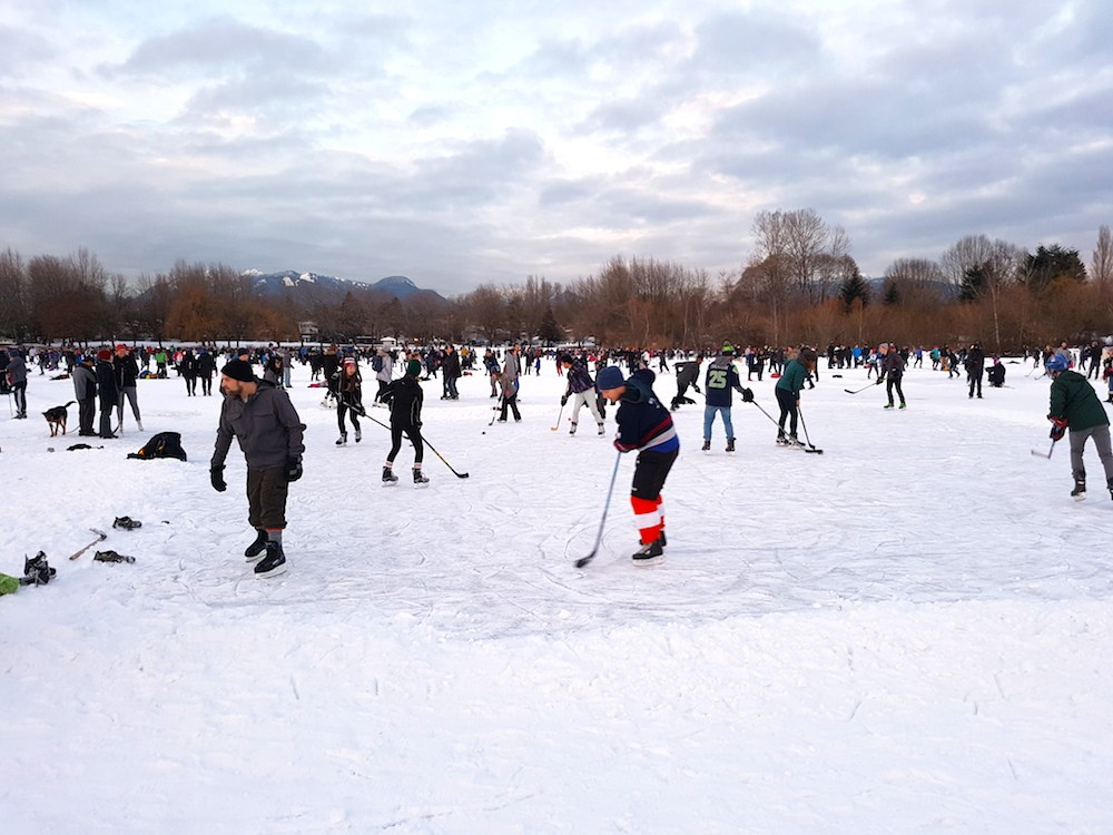 Trout lake ice skating 2 4