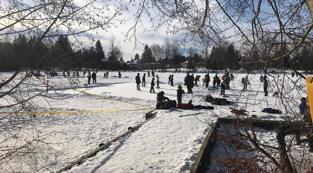 Coquitlam's frozen Como Lake open for free outdoor ice skating (PHOTOS)