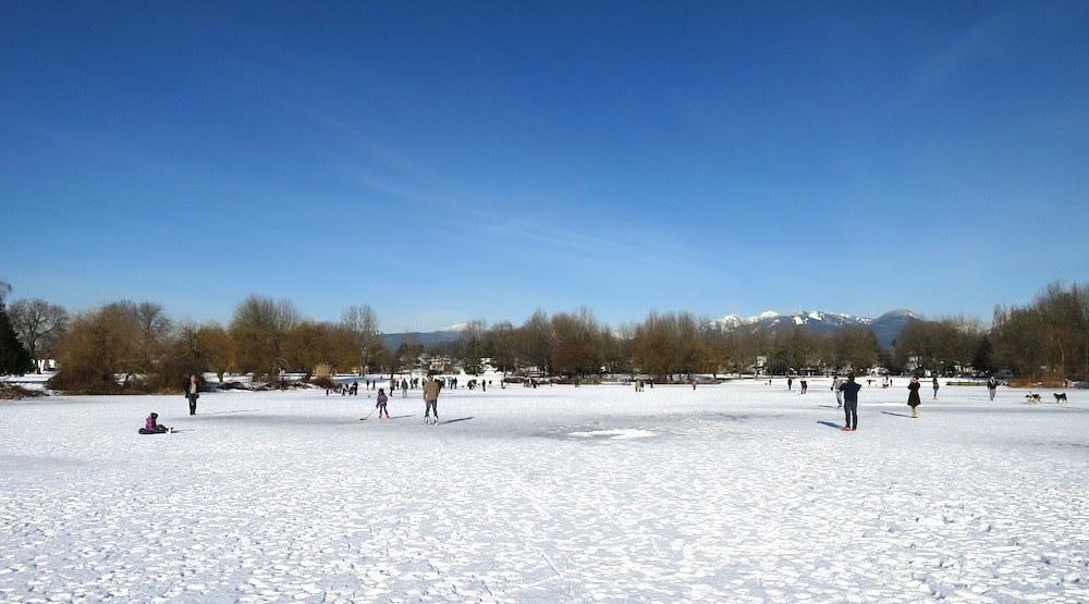 Trout lake frozen rink vancouver 41