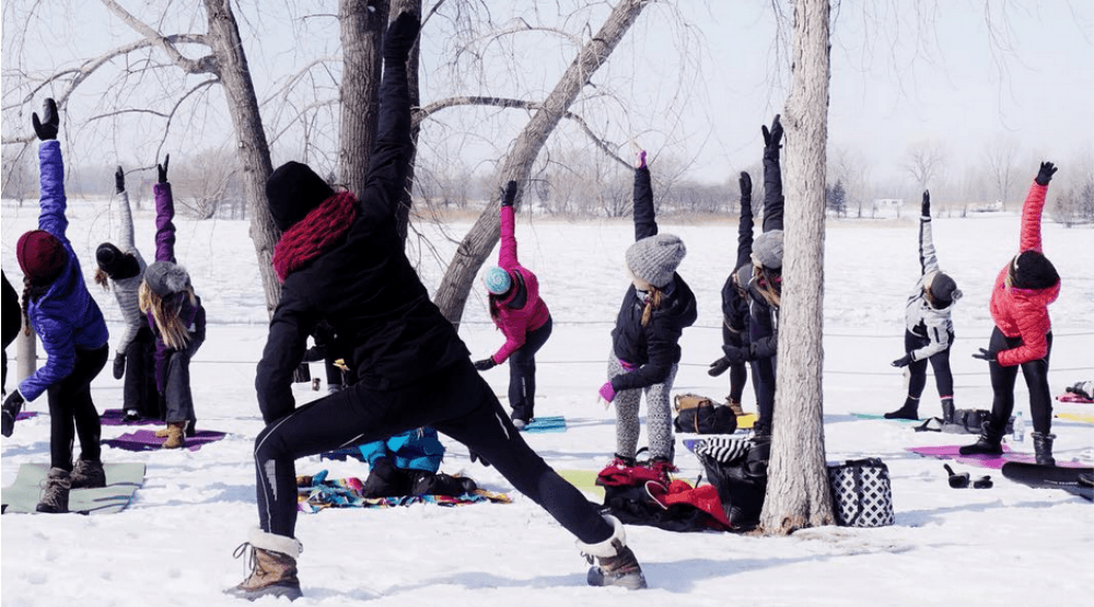 Free snow yoga is happening at Plateau parks all winter long