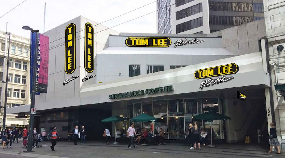 Tom Lee Music flagship Vancouver store moving to corner of Granville and West Georgia