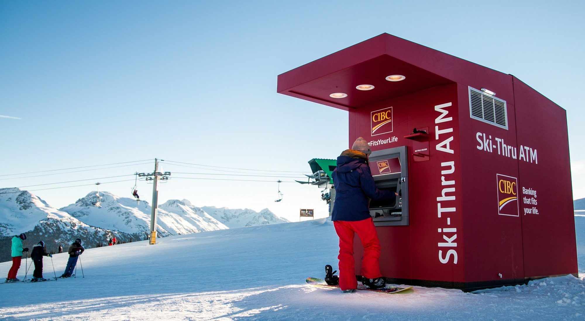 Canada's first ski-thru ATM opens on Whistler Blackcomb