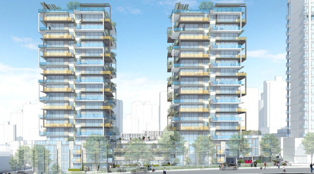 Proposed family-oriented condo towers near Davie Village include social housing