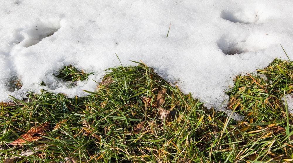 Snow melting warm