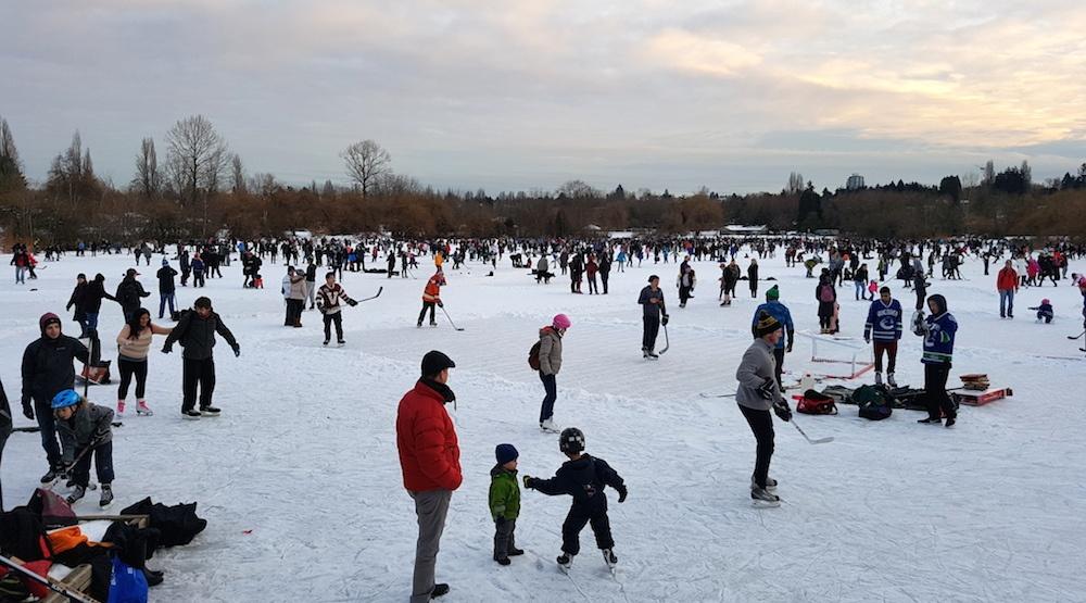 Trout lake vancouver skating
