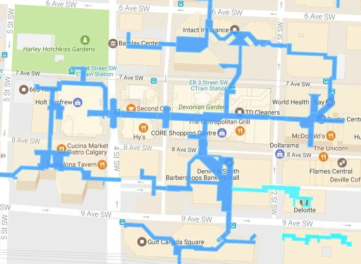 Here's how to get to around downtown using only the +15 ... on lake buena vista hotels map, edmonton hotels map, ottawa hotels map, quebec city hotels map, montreal hotels map, marriott hotel locations map, richmond hotels map, downtown calgary canada, whistler village hotels map, banff downtown map, sw calgary map, westin calgary hotel map, calgary plus 15 skywalk map, killarney hotels map, marriott budapest hotels map, winnipeg hotels map, regina hotels map,