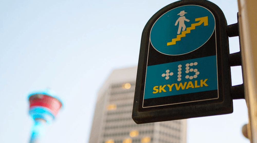 Here's how to get to around downtown Calgary using only the +15