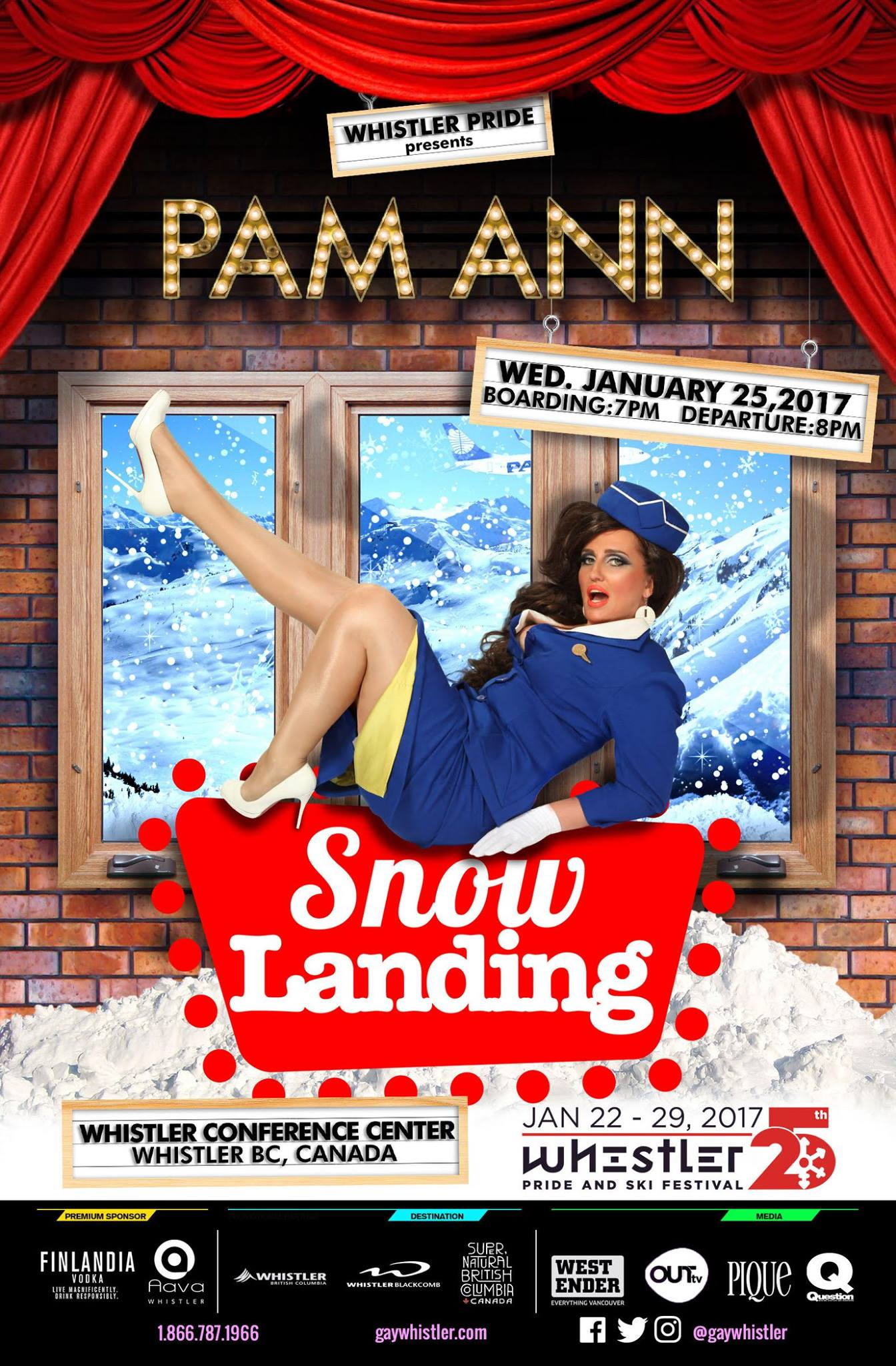 Pam Ann is headlining at Whistler Pride and Ski Festival 2017 (Pam Ann/Facebook)