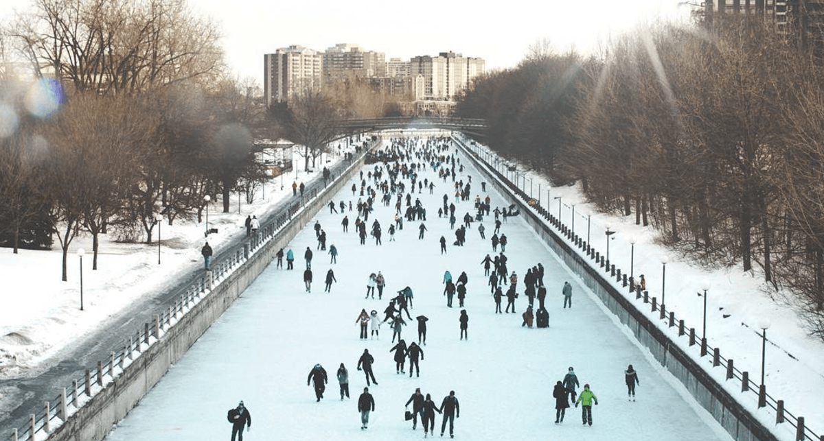 27 beautiful photos of the opening of the world's largest naturally frozen skating rink