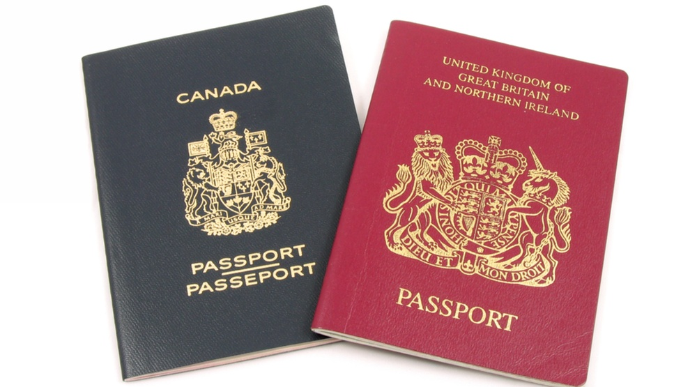 Canadian and British passports (Norman Chan/Shutterstock)