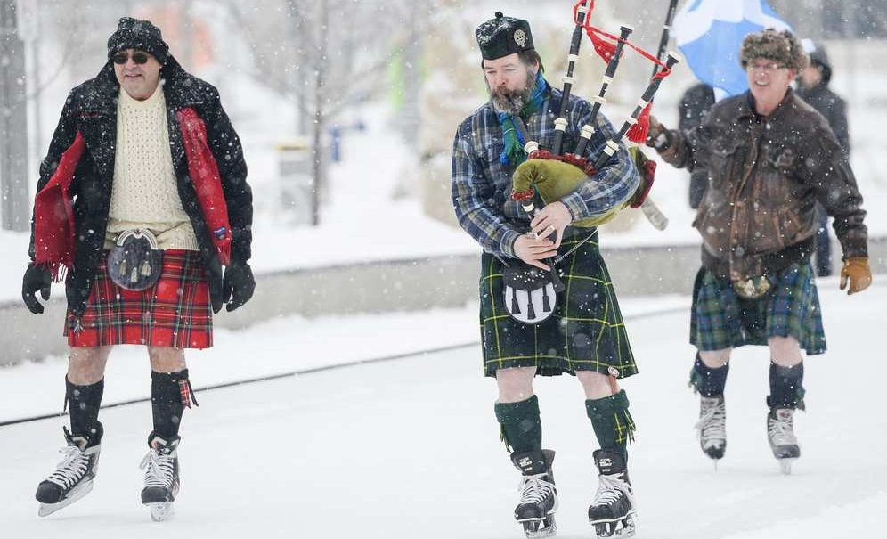 Canadian Kilt Skate at Nathan Phillips Square this weekend