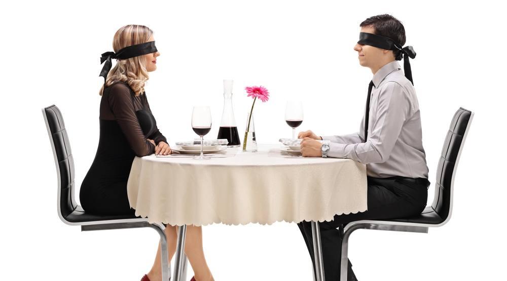 Blindfold dinner shutterstock