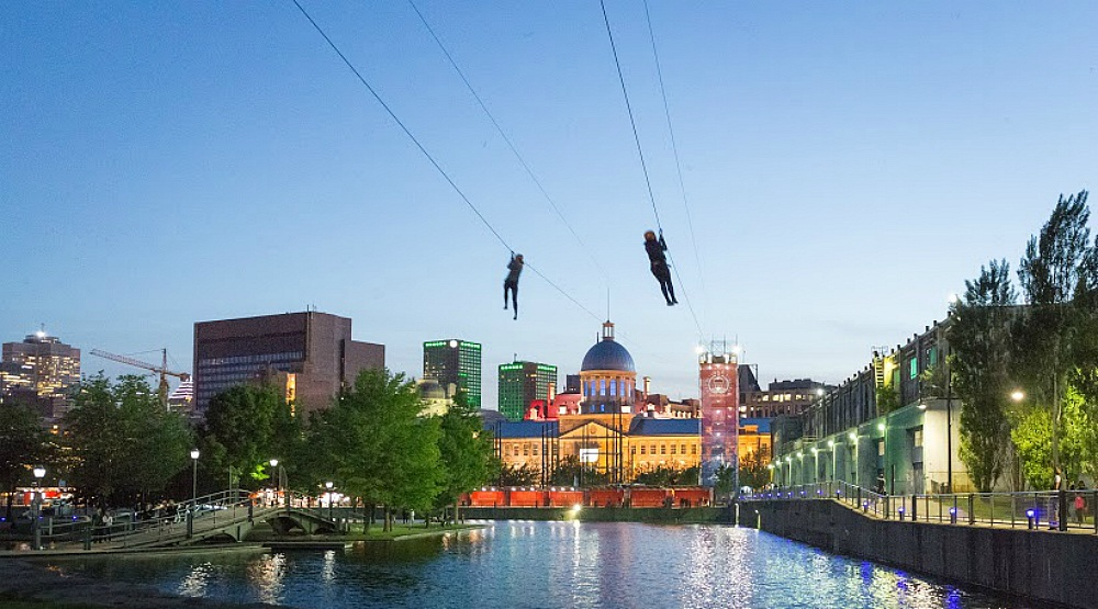 You can go ziplining in Montreal this winter