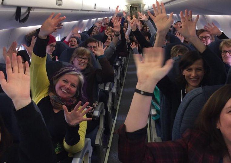 "A Toronto flight to Washington this morning was 90% ""full of nasty women"""