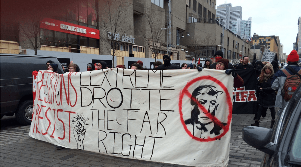 Opinion: Montreal anti-Trump protest turns ugly