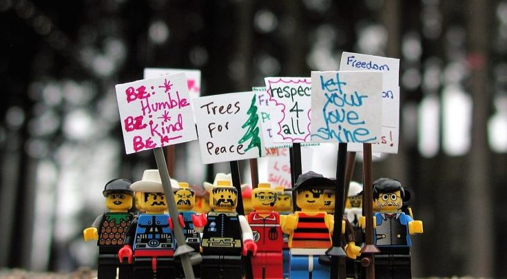 LEGO peace march in Surrey to protest Trump Inauguration (PHOTOS)