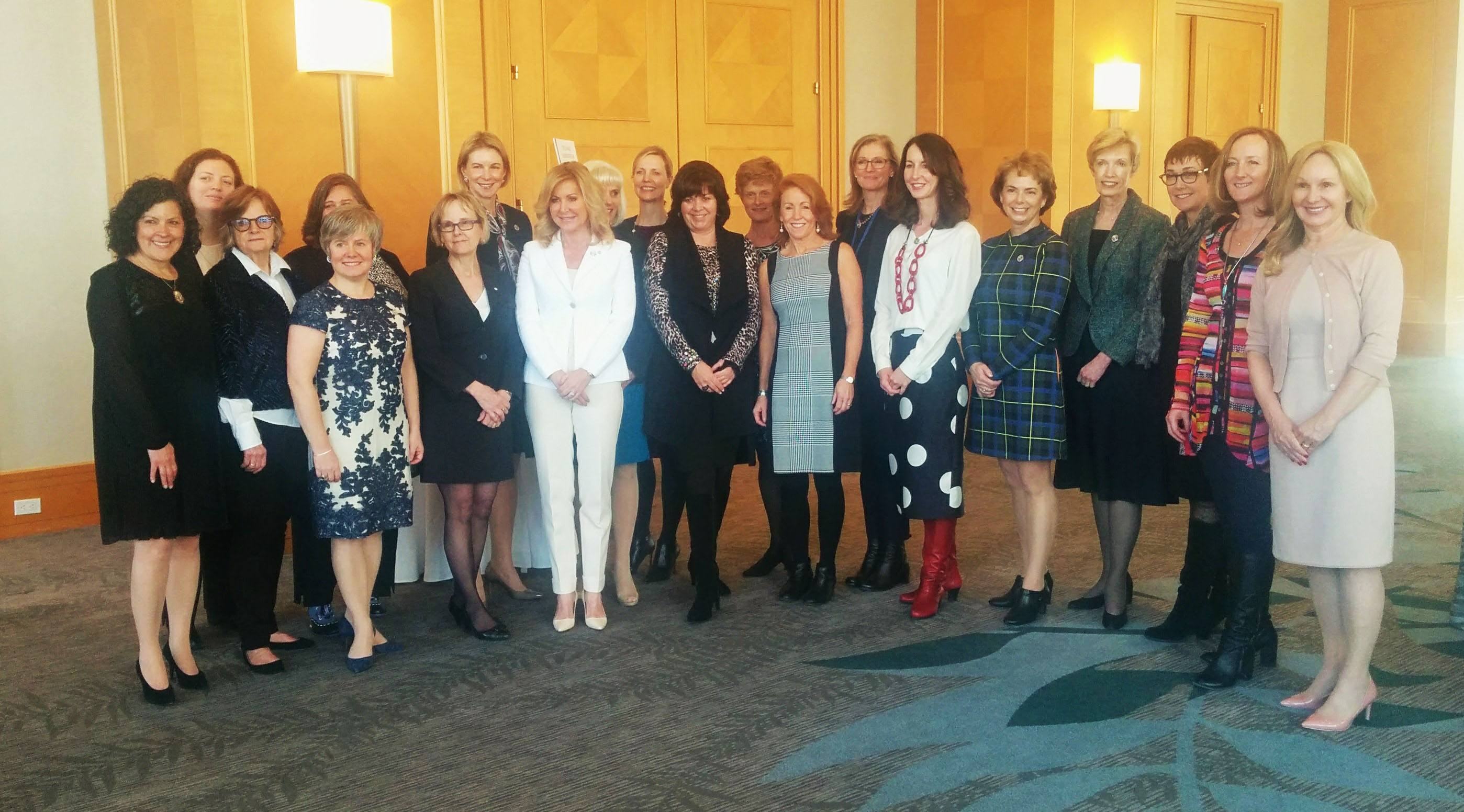 Sherri Stevens (centre) with the BC leaders named among the most powerful women in Canada at the Top 100 Awards in Vancouver for 2016 (Jenni Sheppard/Daily Hive)