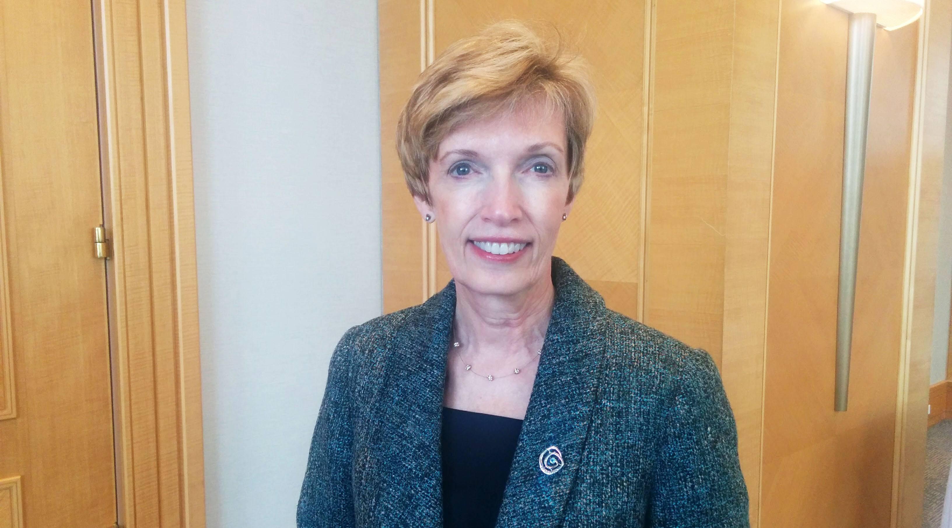 Awardwinner Kathy Kinloch, President of BCIT (Jenni Sheppard/Daily Hive)