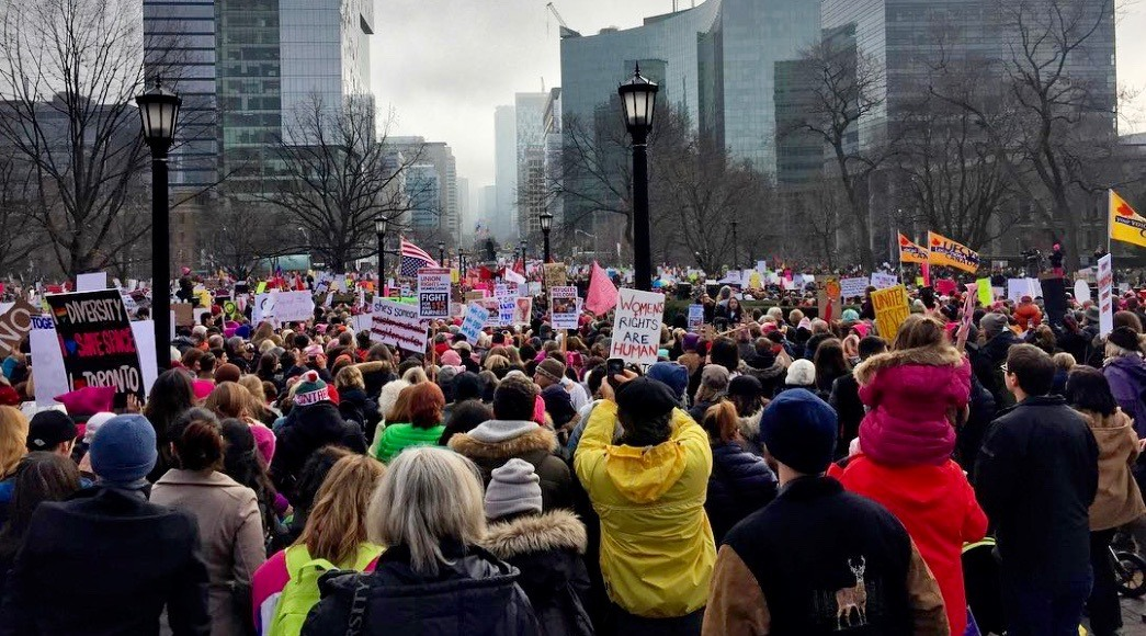 There's a rally and march for International Women's Day in Toronto