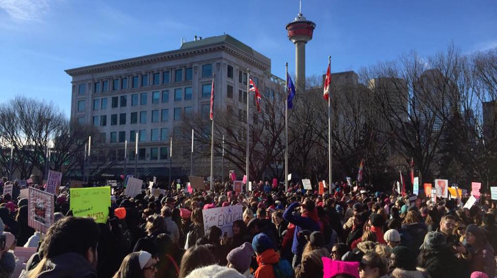 Thousands of people gathered for Calgary Women's March on Washington (PHOTOS)