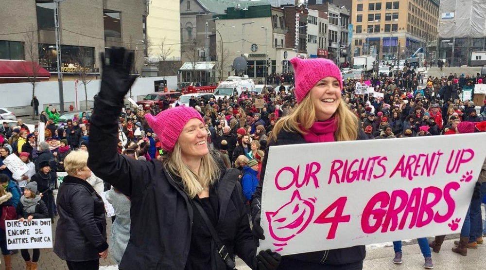 29 photos from the Women's March in Montreal