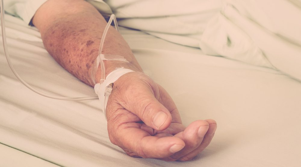 Patient with iv shutterstock