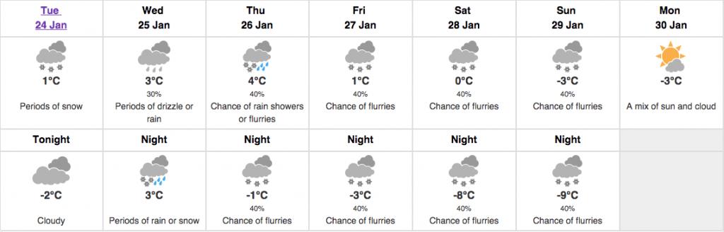 weather toronto forecast