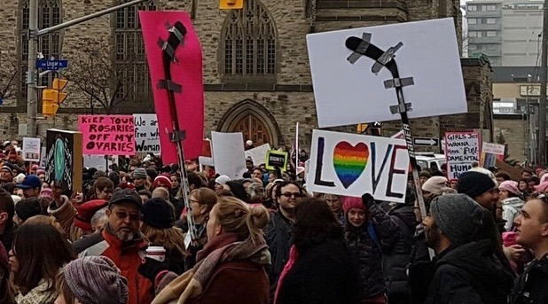 This might be the most Canadian protest photo ever taken