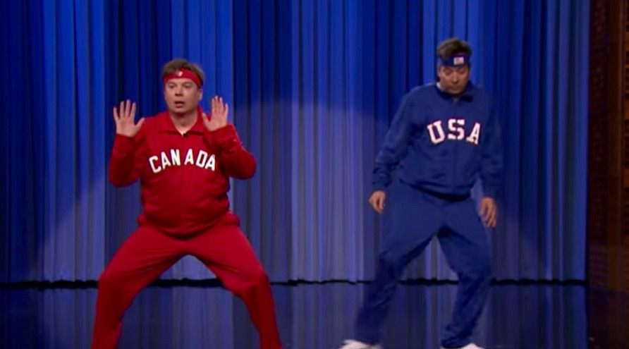 Mike Myers takes on Jimmy Fallon in Canada vs. US dance off (VIDEO)