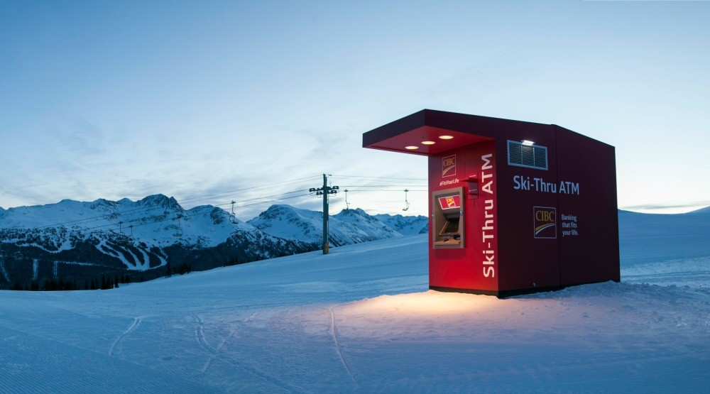 We used the world's first ski-thru mountaintop ATM (VIDEO)