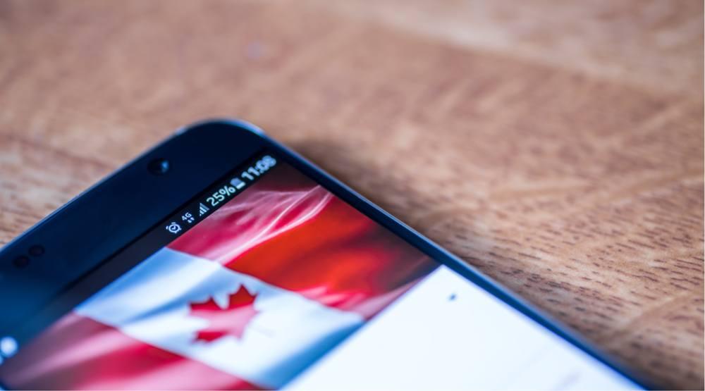 Canada flag smartphone