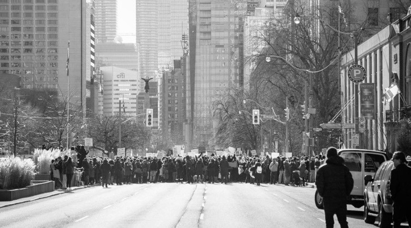 19 powerful photos from yesterday's protest at the US Consulate in Toronto