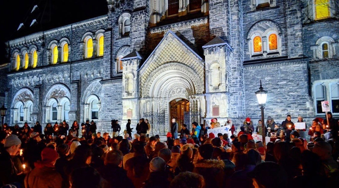 15 photos from last night's multiple Toronto vigils for Quebec City mosque attack