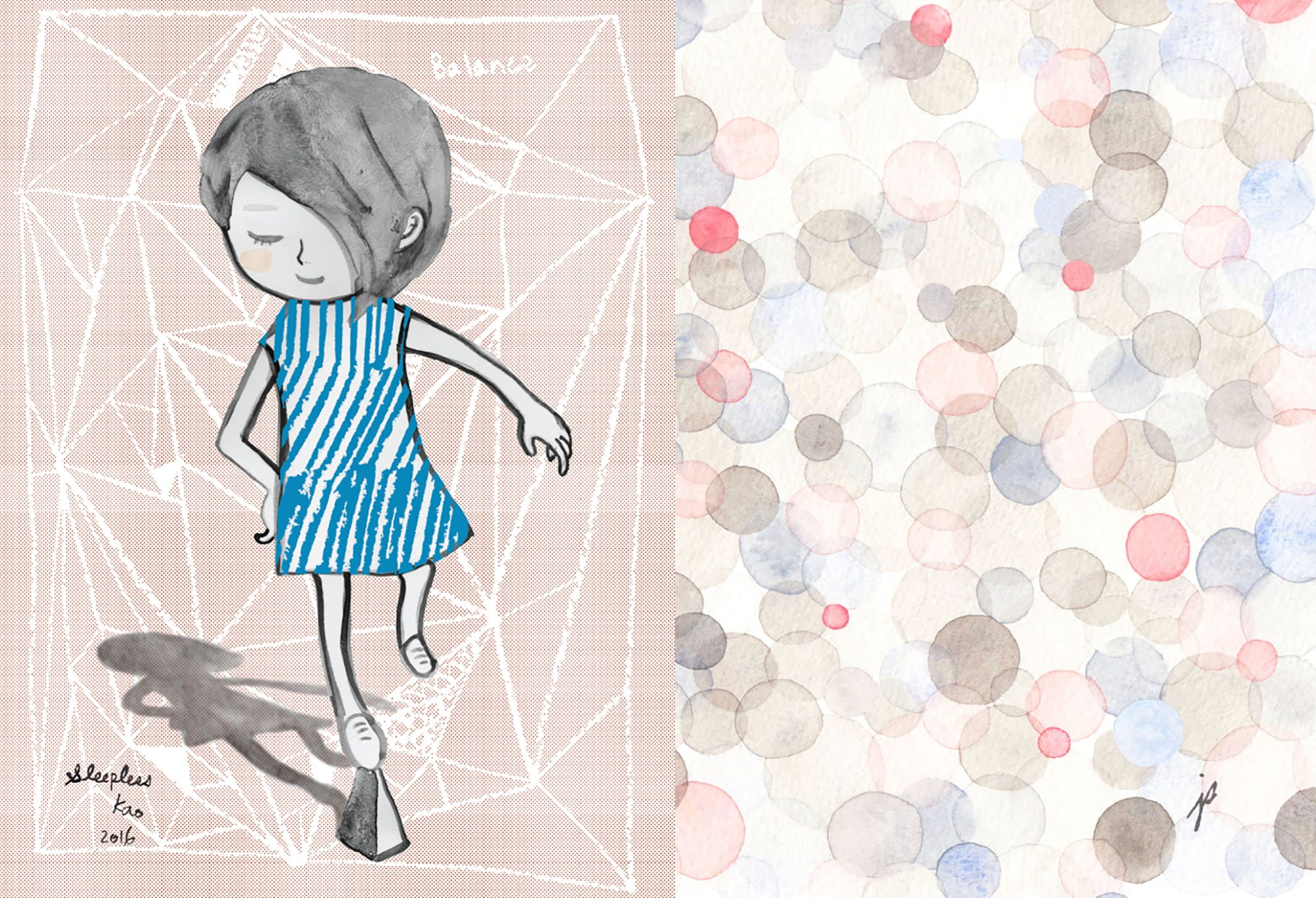 A work included in the Love Art exhibition (Sleepless Kao/Jodi Sam)