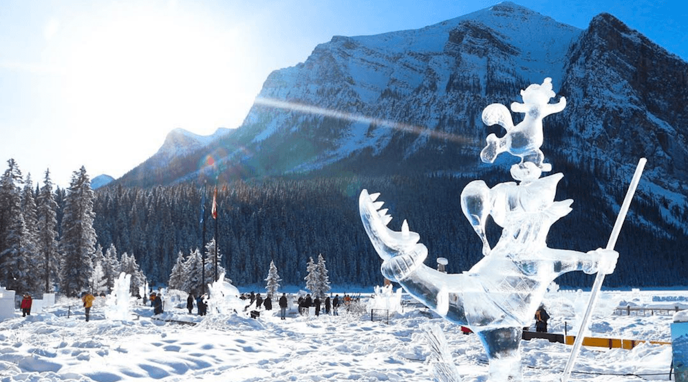 15 photos from Lake Louise's majestic Ice Magic Festival